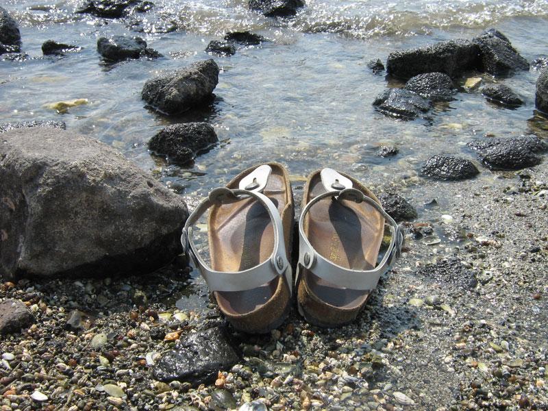 Sandali lago di Tiberiade