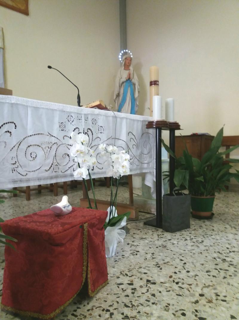 Carpi - passaggio della lampada di Madre Chiara Ricci