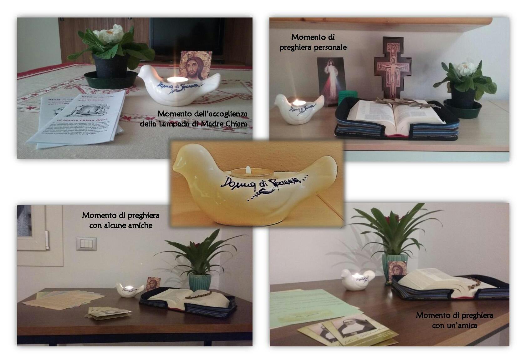Lampada di Madre Chiara Ricci a casa di Elisa